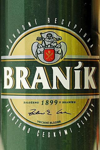 Czech beer can, beer from Prague, Bohemia, Czech Republic