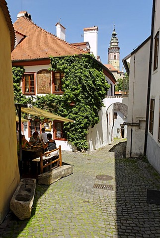 Historic old town of Cesky Krumlov, Bohemia, Czech Republic