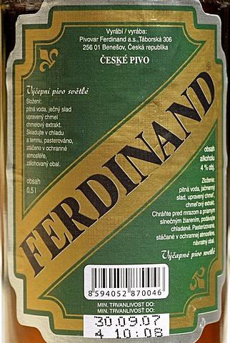 Czech beer, beer from Benesov, Bohemia, Czech Republik