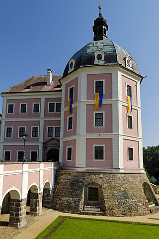 Historic old town of Becov nad Teplou, Bohemia, Czech Republic
