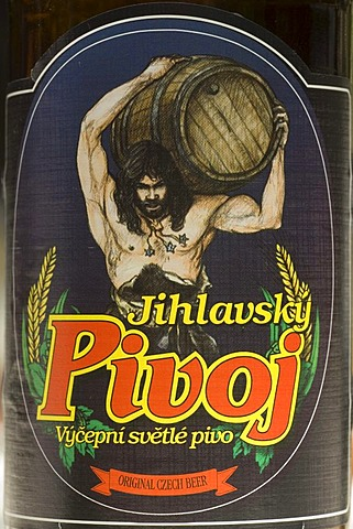 Czech beer from Iglava, Iglau, Moravia, Czech Republic