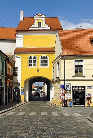 Historic old town of Trebon, Wittingau, South Bohemia, Czech Republic