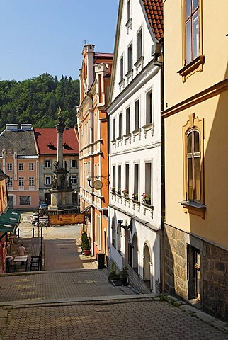 Historic old town of Loket at the Ohre, Eger, west Bohemia, Czech Republic