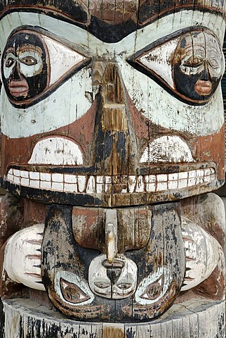 Indian, native american, totem pole, Whitehorse, Yukon, Canada