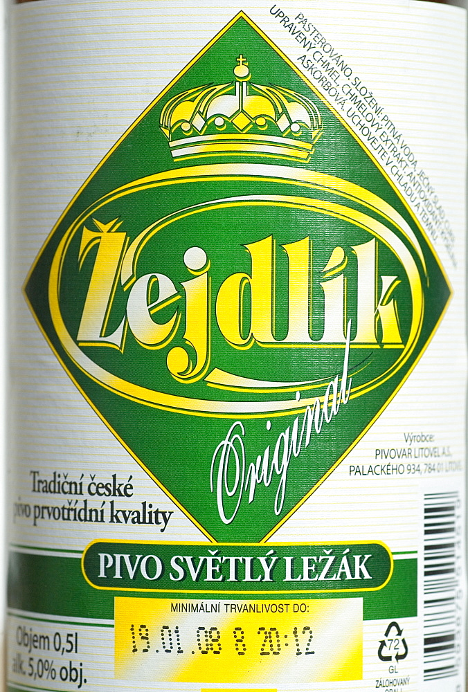 Czech beer from Litovel, Moravia, Czech Republic