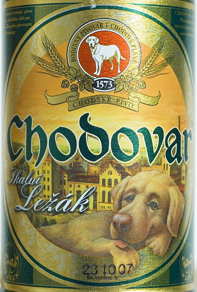 Czech beer from Chodove Plane, west Bohemia, Czech Republic