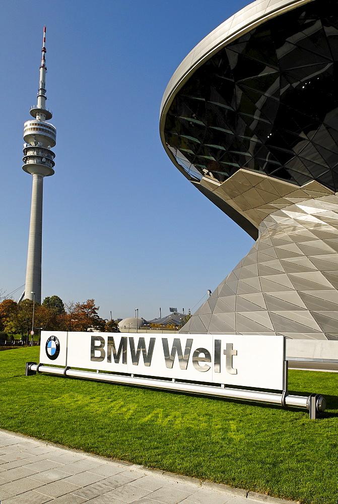 New building BMW Welt, BMW world, Munich, Bavaria, Germany