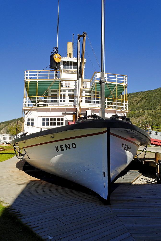Historic paddlewheeler Keno, Dawson City, Yukon, Canada