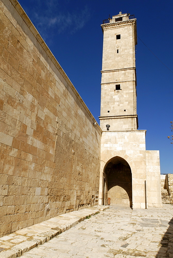 Mosque and museum of the citadelle of Aleppo, Syria