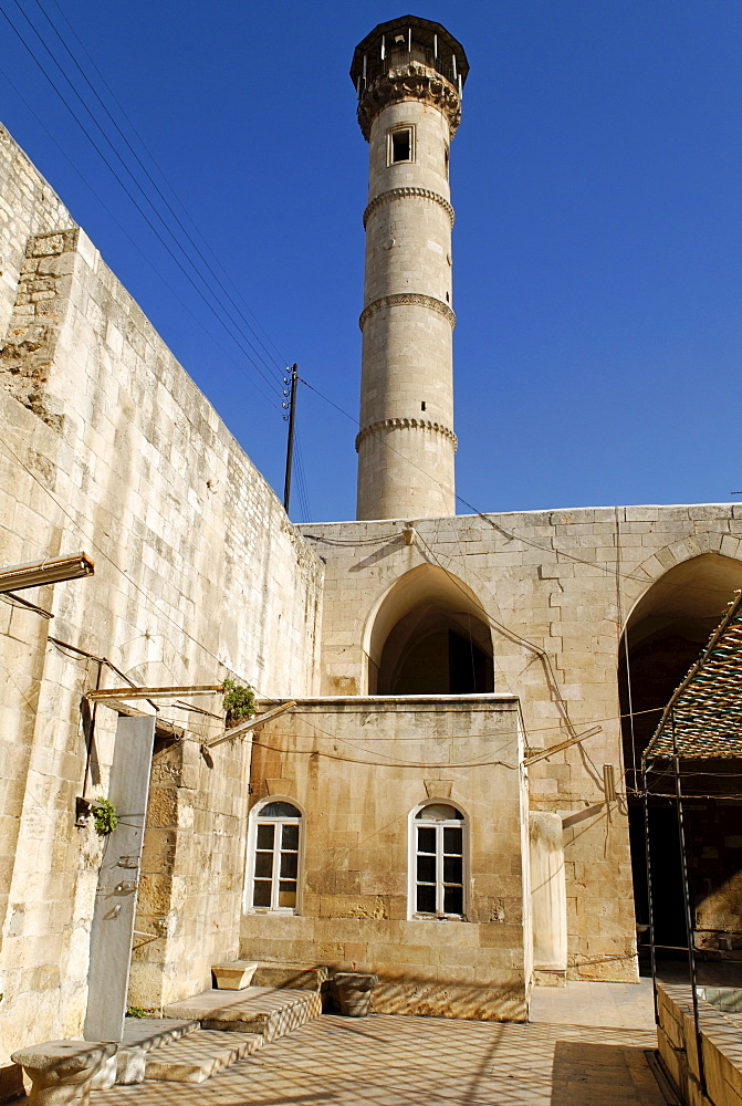 Mosque in the old town of Aleppo, Syria