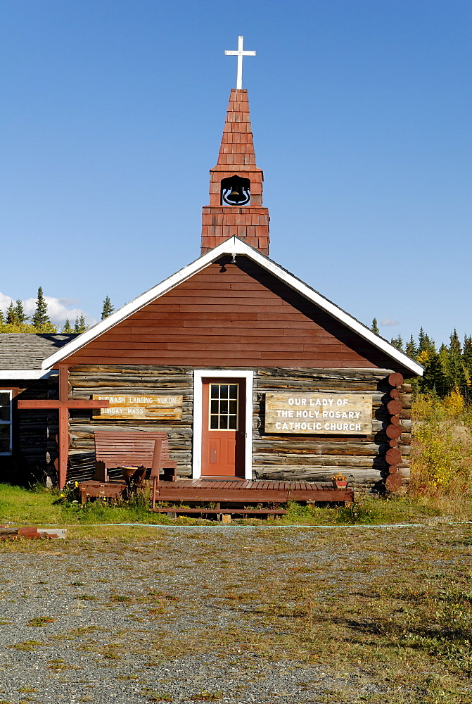 Alt church at Kluane Lake, Yukon Territory, Canada