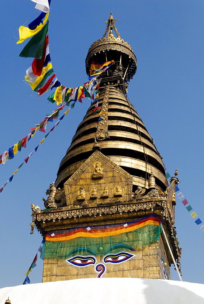 Buddhistic stupa of Swayambhunath, Kathmandu, Nepal