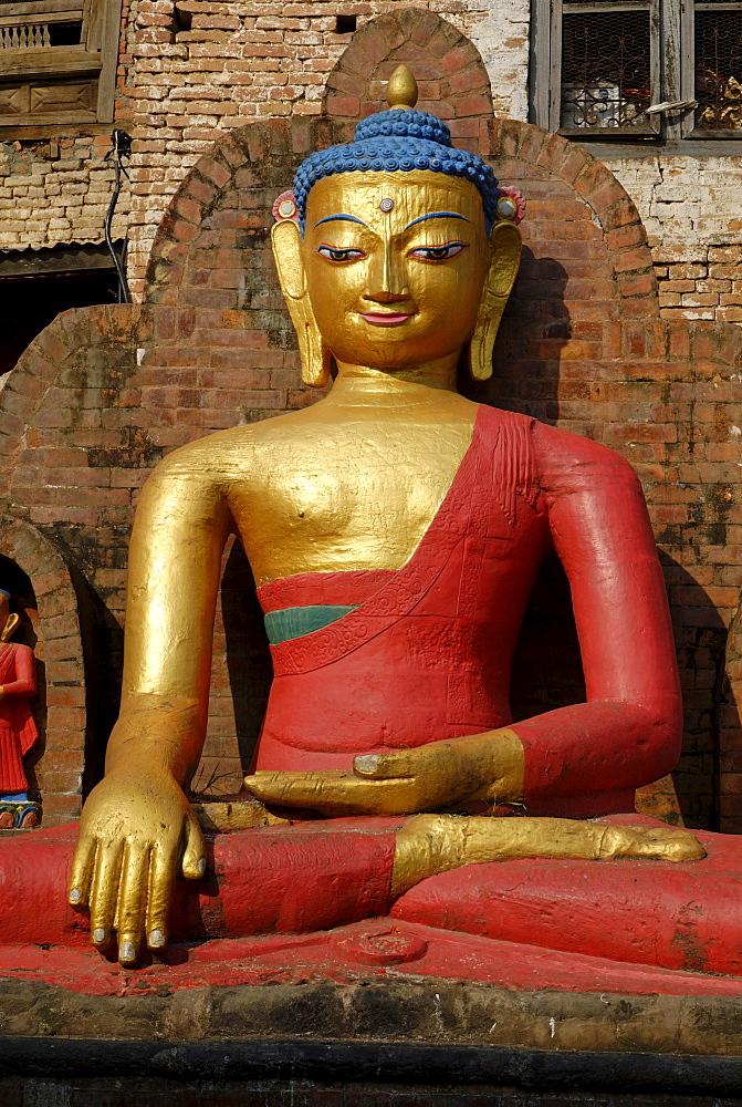 Buddha statue at Swayambhunath, Kathmandu, Nepal