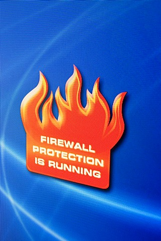 Screenshot, Computer Warning, Firewall protection is running