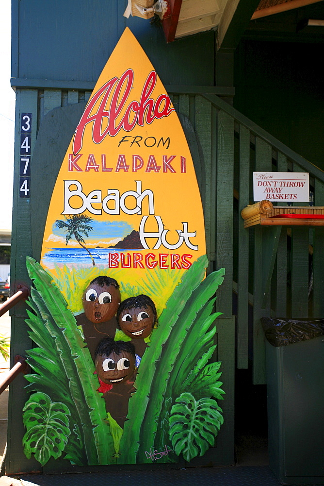 Kalapaki Beach Hut, popular breakfast location, Lihue, Kaua'i Island, Hawaii, USA