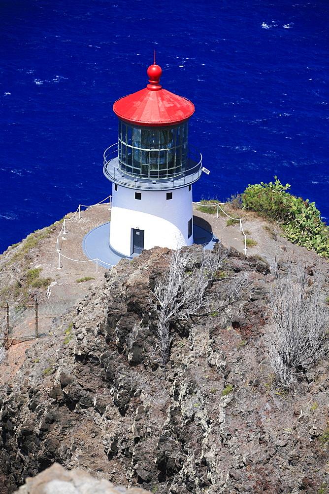 Makapu'u Point lighthouse, easternmost point of O'ahu Island, Hawaii, USA