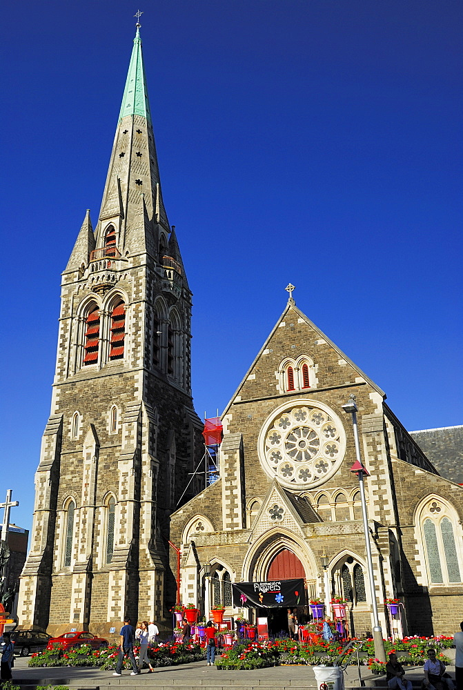 ChristChurch Cathedral, Cathedral Square, Christchurch, Canterbury, South Island, New Zealand, Pacific