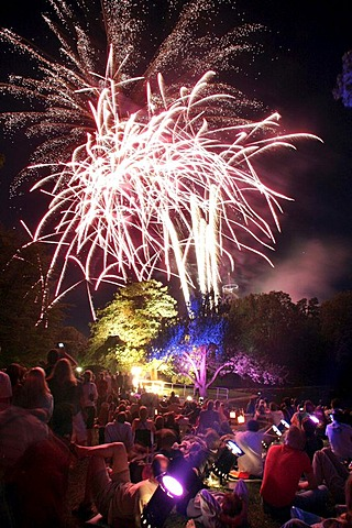 Fireworks at the Killesberg, Stuttgart, Baden-Wurttemberg, Germany