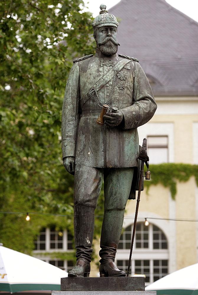 Bronze bust of Louis IV, Ludwig IV, Grand Duke of Hesse, in Bingen am Rhein, Rhineland-Palatinate, Germany, Europe