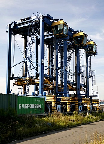 Container port, Duisburg, North Rhine-Westphalia, Germany