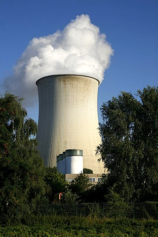 Cooling tower, nuclear power plant Weisweiler, North Rhine-Westphalia, Germany
