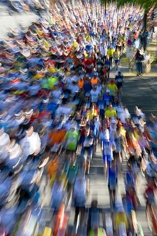 Marathon runner at the Conergy Marathon 2007, Hamburg, Germany