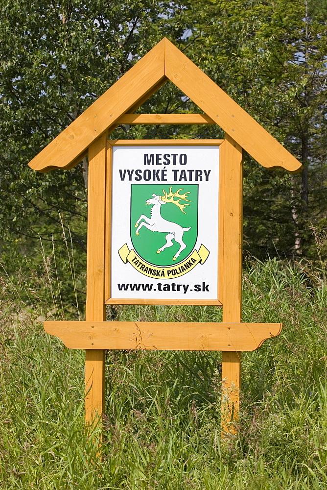 Sign, region of the High Tatras, Slovakia