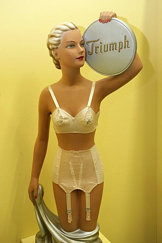 Old promotion statue of the underwear firm triumph
