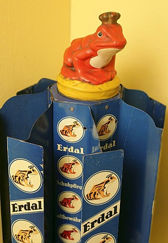 Erdal frog, old symbol of a german shoe polish firm