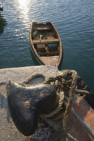 Rowboat in Rhodes, Greece, Europe