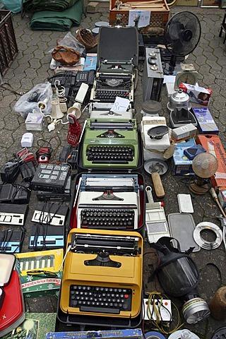 Typewriters on a flea market