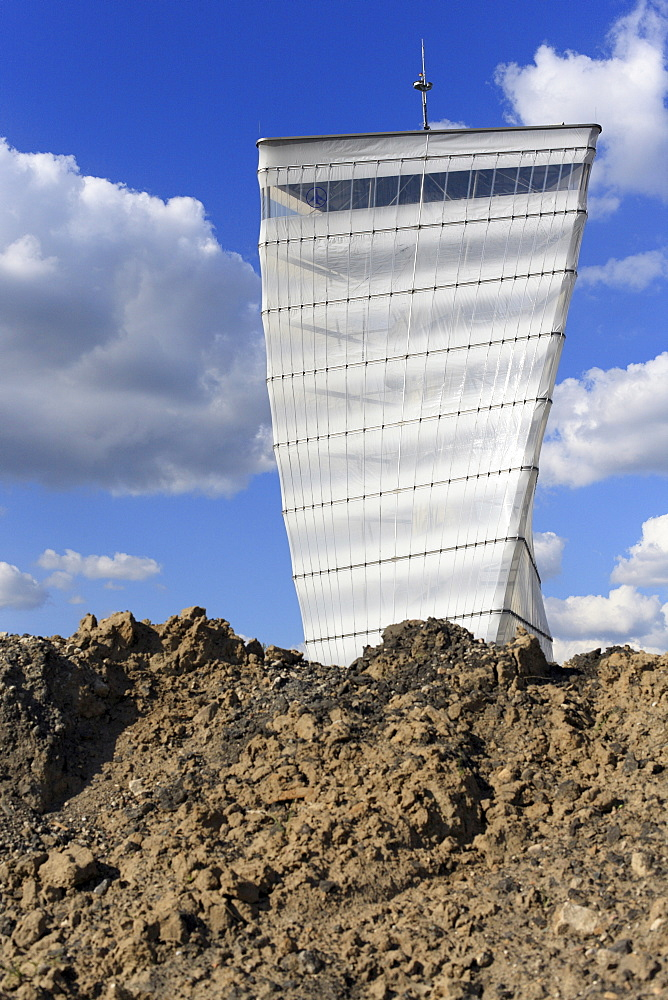 BBI-Infotower on the construction site for Berlin Brandenburg International Airport, BBI, Berlin, Germany, Europe