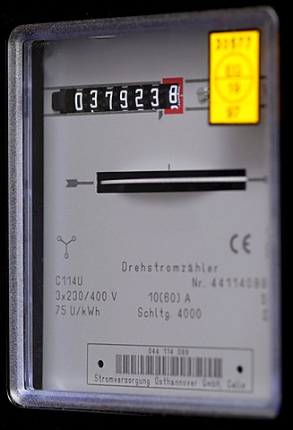 Meter reading of electricity meter