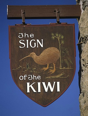 """The sign of the Kiwi"" near Christchurch, South-Island, New Zealand"