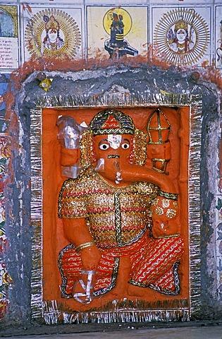 Ganesha-shrine, Gwalior, Madhya Pradesh, India, Southasia, Asia
