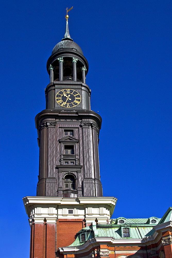 St. Michaelis Church, Hamburg, Germany, Europe