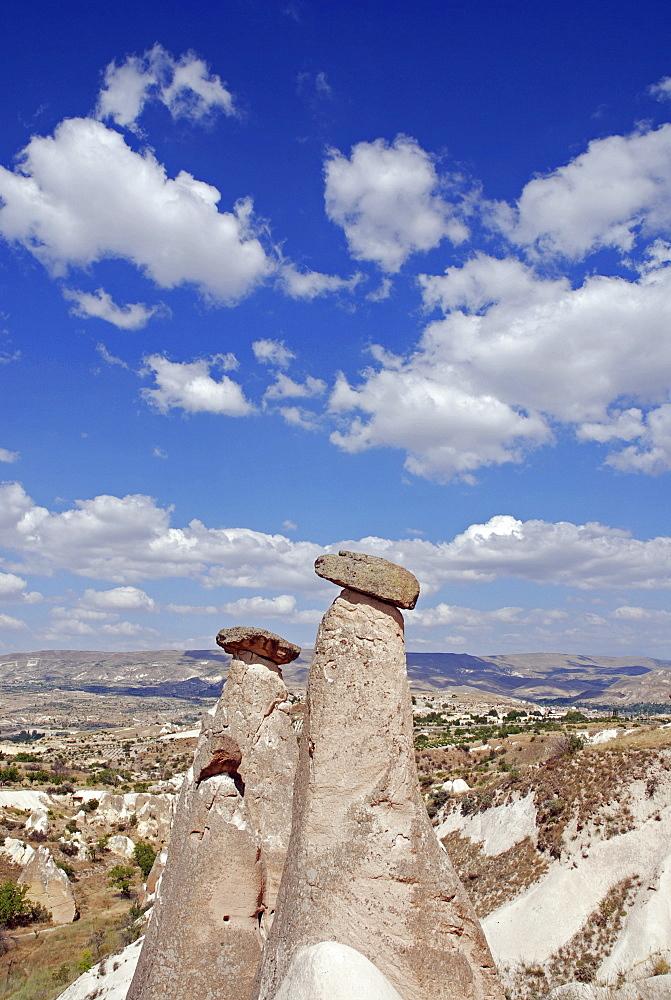 Tuff landscape near Uerguep, Cappadocia, Turkey