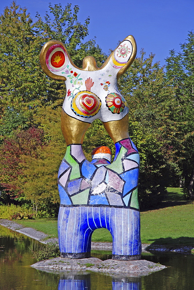 """The Poet and his Muse"" by Niki de Saint Phalle, Ulm, Baden-Wuerttemberg, Germany"