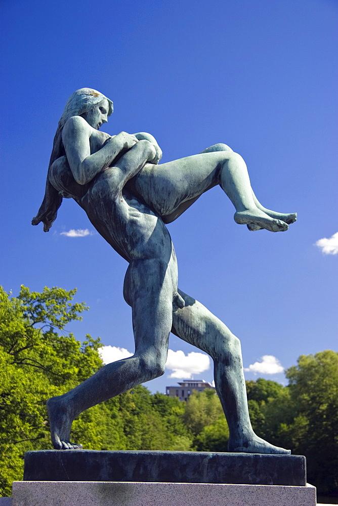 Vigeland sculpture Oslo, bronze statue, Vigeland Park, Frogner Park, Oslo, Norway, Scandinavia, Europe