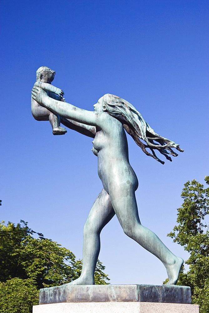 Bronze sculpture by Gustav Vigeland in Vigeland Sculpture Park, Frogner Park, Oslo, Norway, Scandinavia, Europe