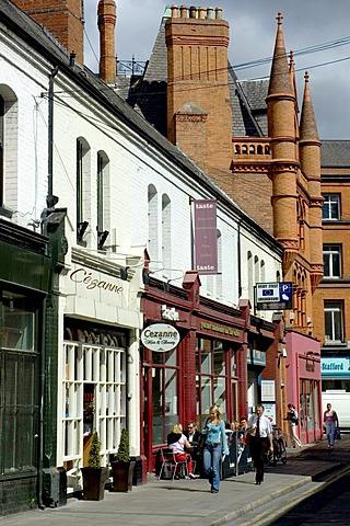Fahion shopping street Castlemarket . Dublin , Ireland , Europe