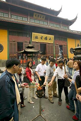 Lingyin Temple, Hangzhou, Zhejiang, China, Asia