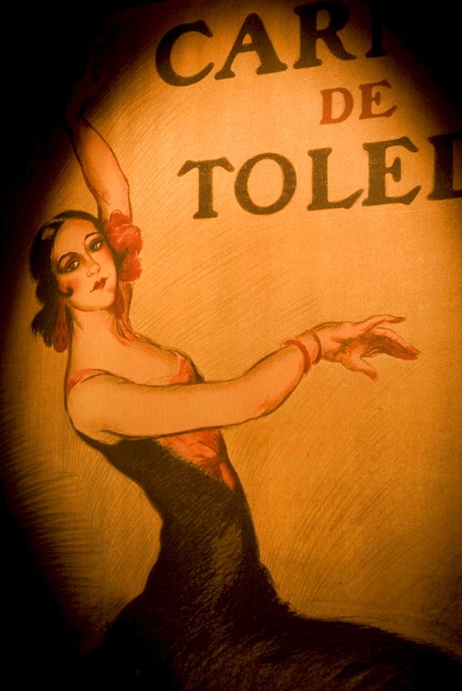 Poster, Museo del baile flamenco Sevilla, interactiv museum about flamenco music, Andalucia, Spain
