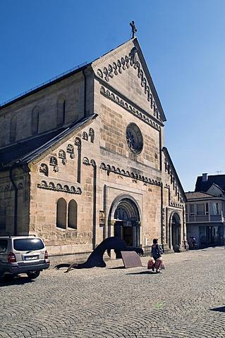 Johanniskirche Church, late Romanesque pillar basilica, built between 1220 and 1250, Schwaebisch Gmuend, Baden-Wuerttemberg, Germany, Europe