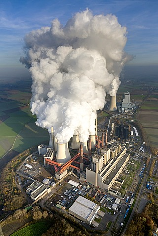 Aerial view, Neurath Power Station, Grevenbroich, North Rhine-Westphalia, Germany