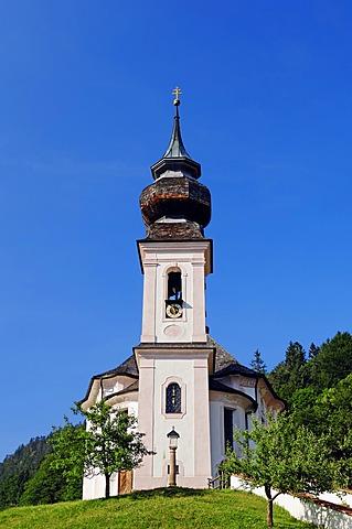 Pilgrimage Church of Maria Gern near Berchtesgaden, Berchtesgadener Land, Bavaria, Germany, Europe, PublicGround