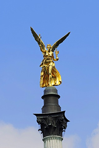 Angel of Peace in Prinzregentenstrass, a street in Munich, Bavaria, Germany, Europe, PublicGround