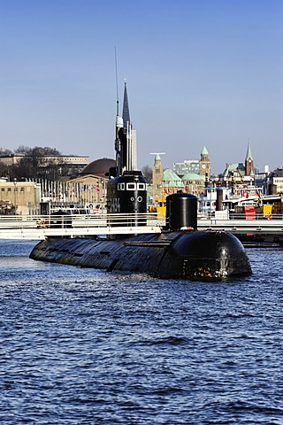 Soviet submarine B-515, sometimes referred to as U-434, open to the public as a museum exhibit, Hamburg, Germany, Europe