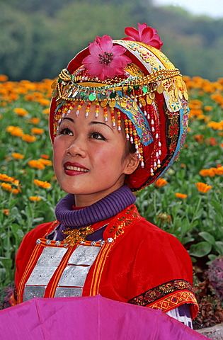 Zhuang Girl, ethnic minority, Guilin, Guangxi, China, Asia