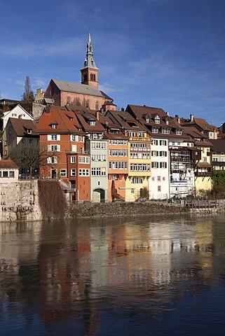 Laufenburg, Waldshut district, High Rhine, Black Forest, Baden-Wuerttemberg, Germany, Europe, PublicGround